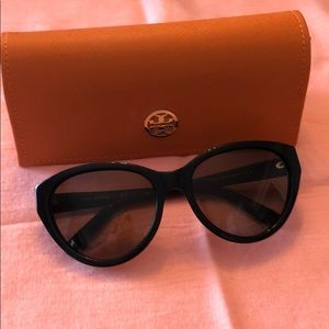 Black and gold Tory Burch Sunglasses